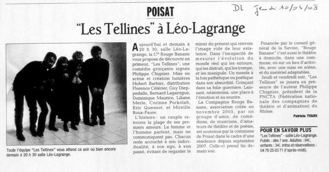 Les Tellines - Presse